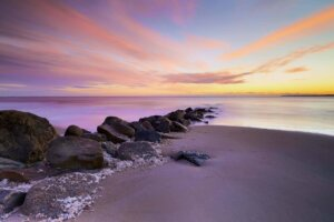 Touch the Horizon is a strikingly colorful shot of Plum Island Beach in Massachusetts